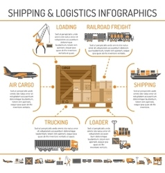 Shipping and logistics infographics vector