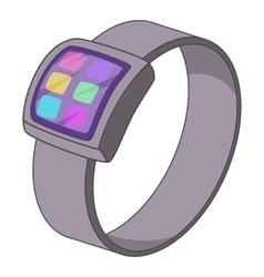 Smart watch icon cartoon style vector image