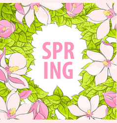 A beautiful poster with the inscription spring vector