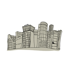A view of city vector image
