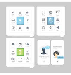 Communication web design elements vector