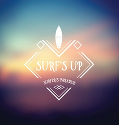 Surf vintage retro poster hawaii beach wave banner vector