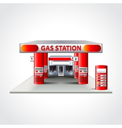 Gas station building isolated vector