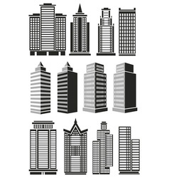 Tall buildings vector