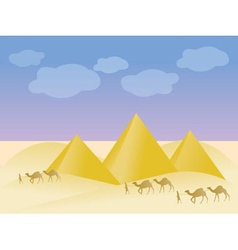 Egypt and pyramid landscape vector