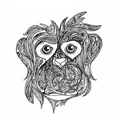 monkey anti stress vector image