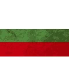 True proportions bulgaria flag with texture vector