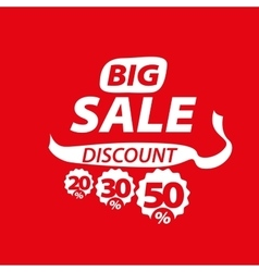 Sign for discounts vector