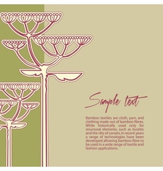 background from fennel flower branch vector image