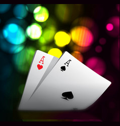 a combination of playing cards for casino two vector image