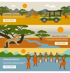 Africa Banners Set vector image vector image