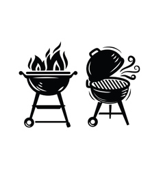 BBQ Grill icons vector image vector image