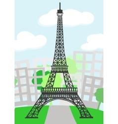 Cartoon Paris vector image vector image