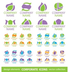 corporate icons vector image vector image