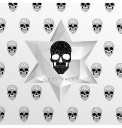 Dark graveyard background vector