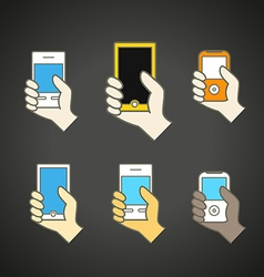 Different modern mobile gadgets vector