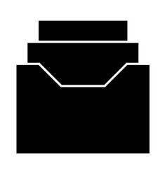 documents archieve or drawer vector image
