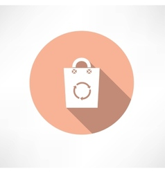 Eco bag with cycle icon vector image