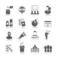 Election icon set vector