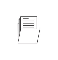 folder thin line icon portfolio outline vector image