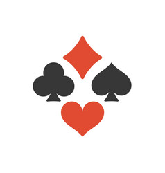 four playing cards suits symbols vector image