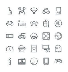 Gaming cool icons 2 vector
