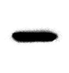 Graffiti sprayed line design element in black vector