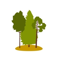 Green forest icon vector image vector image