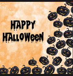 Halloween watercolor background vector