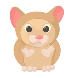 Hamster icon cartoon style vector