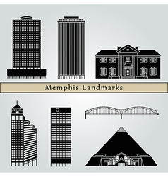 Memphis landmarks and monuments vector