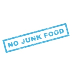 No junk food rubber stamp vector