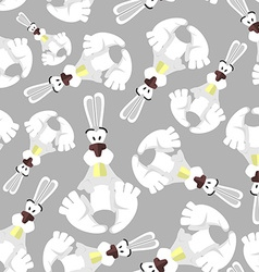 Seamless pattern with bunnies background of vector