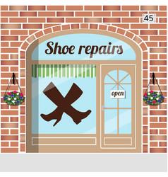 Shoe repairs service vector