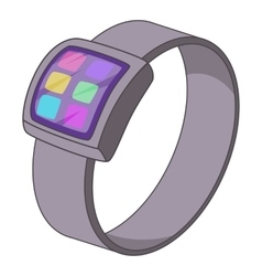 Smart watch icon cartoon style vector image