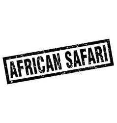 Square grunge black african safari stamp vector