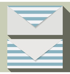 Striped business card set vector