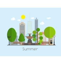 Summer time background in modern flat design vector