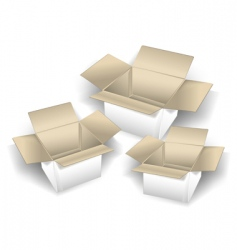 three boxes vector image vector image