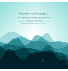 Turquoise abstract background from waves vector
