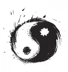 yinyang symbol vector image vector image