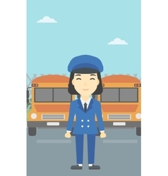 School bus driver vector