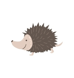 Smiling hedgehog running vector