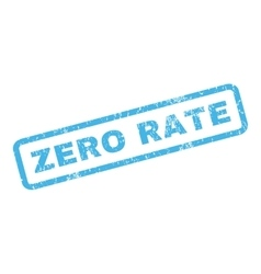 Zero rate rubber stamp vector