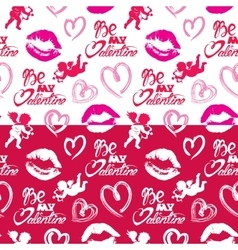 Seamless pattern with brush strokes and scribbles vector