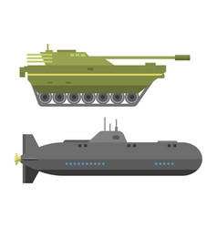 Military technic army war tanks and industry vector