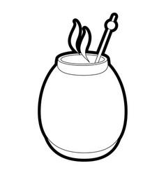 Mate drink design vector