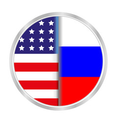 Sign symbol relationship between the usa and russi vector