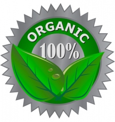 Organic product label vector