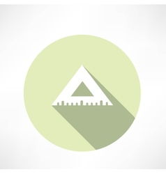Rulers triangular icon vector